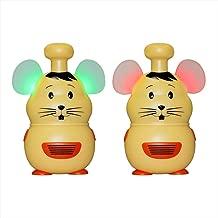 Retevis RT30M Kids Walkie Talkies 1Channel 2Button Hamster Toddler Toy Walkie Talkies(Yellow 1Pair)