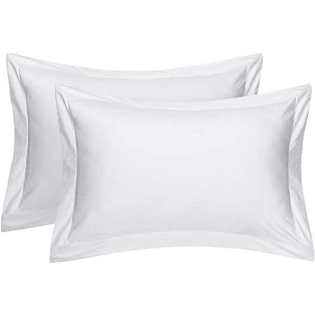 Housewife Pillowcase Pair From Great Knot Luxury 100/% Cotton TC 180 Thread Count