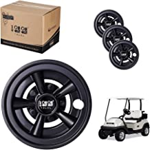 10L0L Golf Cart Wheel Covers 8 Inch Set of 4, Wheel Hub Caps for Standard Golf Cart Rims,Fit for EZGO,Yamaha,Club Car