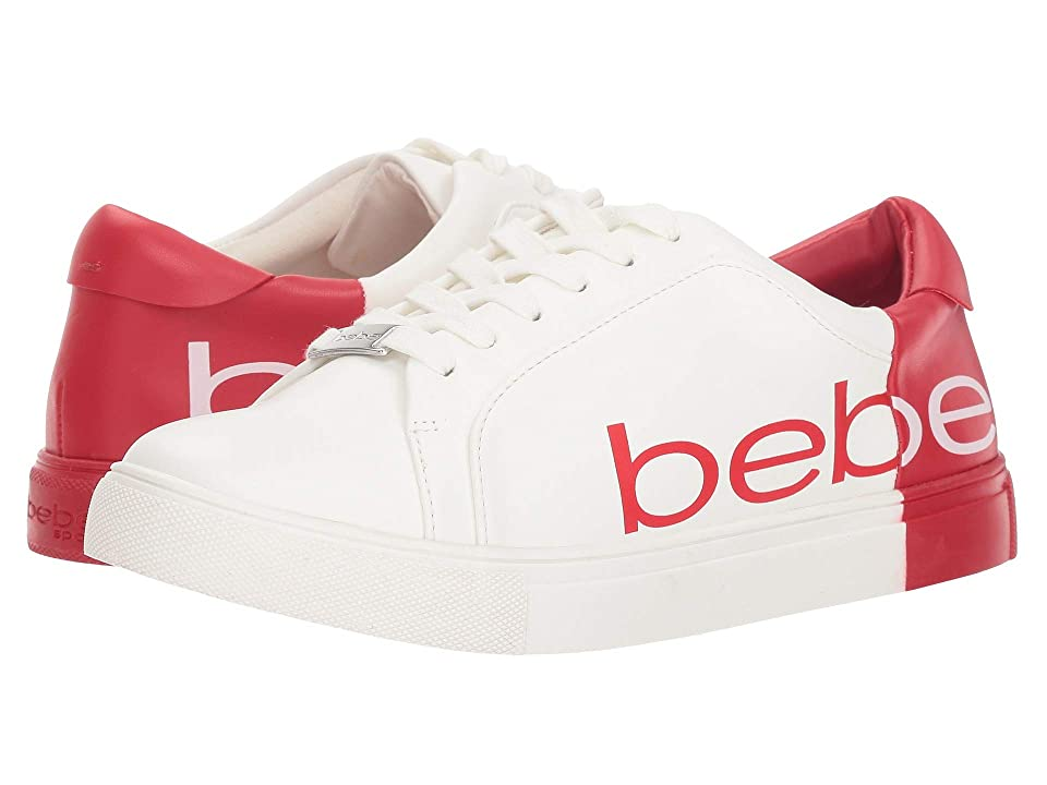 Bebe Charley (White/Red) Women