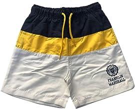 Franklin & Marshall Niños Shorts Baño Azul Marino/Amarillo/Blancuzco Siglos 6Y-1