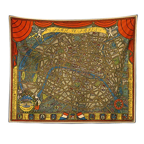 Bohemia Colgante De Pared Mantas para Sofa Tapiz De Mapa del Mundo Retro De Europa Y América Decoración De Pared para Dormitorio Sala De Estar Toalla De Playa 230X180Cm