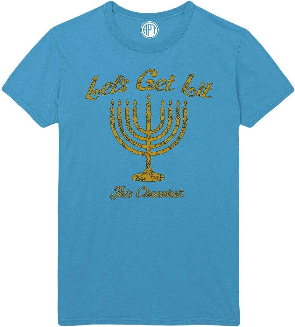 Lets Get Lit The Chanukah Printed T-Shirt