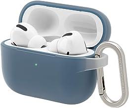 RhinoShield Coque avec Mousqueton Compatible avec Apple [AirPods Pro]   Protection de qualité Militaire Contre Les Chocs, résistante aux Rayures, Chargement sans Fil - [Bleu Indigo, Set Standard]