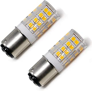 BA15D led Bulb 5W Sewing Machine Light Bulb Equivalent to 45W Halogen Bulb, T3/T4/C7/S6 Double Contact Bayonet Base, 120V Warm White 3000K, Dimmable (2 Pack)
