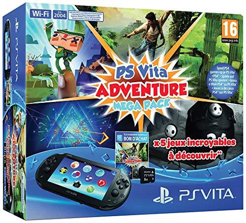 Console Playstation Vita 2000 + Voucher Adventure Games Mega Pack + Carte Mémoire 8 Go pour PS Vita