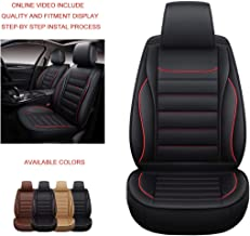 Oasis Auto OS-005 Universal Leather Seat Covers Car and SUV Cushion Automotive Vehicle Interior Accessory Replacement: Honda-Toyota-Nissan-Subaru-Jeep-Hyundai-Mazda-KIA-Ford-Chevy-Acura-VW-Lexus-BMW