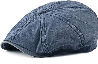 Fashion Design Cotton Newsboy Cap For Men And Women Vintage Retro Hats Beret Hat Accessories (Color : Light Blue, Size : 5...
