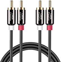 RCA Cable,CableCreation 10FT 2RCA Male to 2RCA Stereo Audio Cable Gold-Plated Compatible with Speaker, AMP,Turntable,Receiver,Home Theater, Subwoofer,Double Shielded,3M