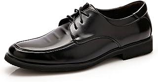 Men's Formal Business Oxfords PU Leather Stitching Design Soft Flat Sole Loafers Men's Shoes Yangjilanfqq (Color : Black, Size : 5.5 UK)
