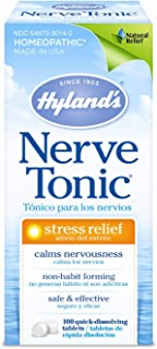 Hyland's Nerve Tonic Stress Relief Tablets, Natural Relief of Restlessness, Nervousness and Irritability Symptoms, Non-Hab...