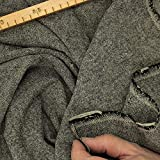 kawenSTOFFE Tweedstoff schwarz grauweiß Wollstoff leicht