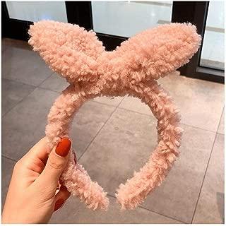 Ladies' simple plush bow hair hoop, temperament pressure hair anti-slip headband, wild out headwear-A10