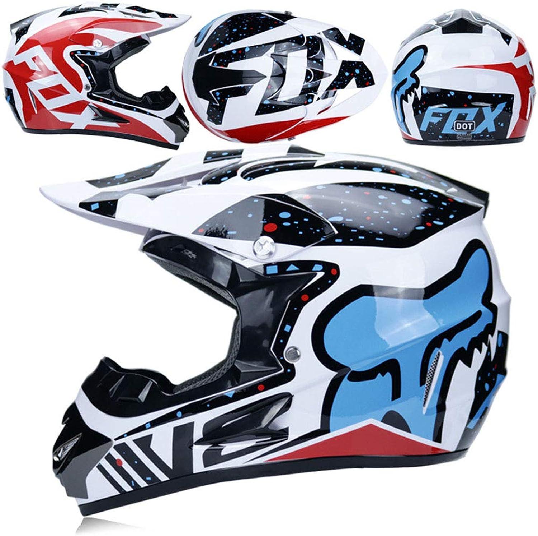 Adult Motocross-Helm ATV Helm D.O.T Standard Rock Rock Rock Star mit Brille und Handschuhe Winddichte Maske (S, M, L, XL),C,L B07L5LJMN9  Umweltfreundlich 34eaf7