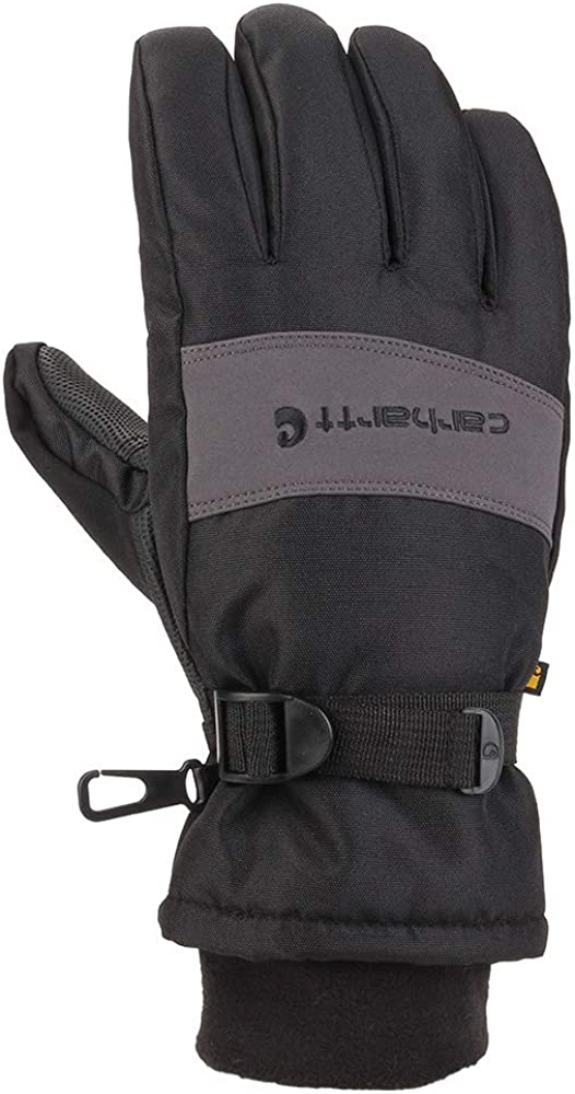Carhartt Men's WP Waterproof Insulated Glove Small Grey Black Cheap mail order specialty store Outlet sale feature