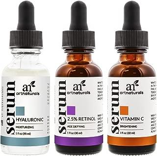 Art Naturals Anti Aging Set - Vitamin C - Retinol Serum - Hyaluronic Acid