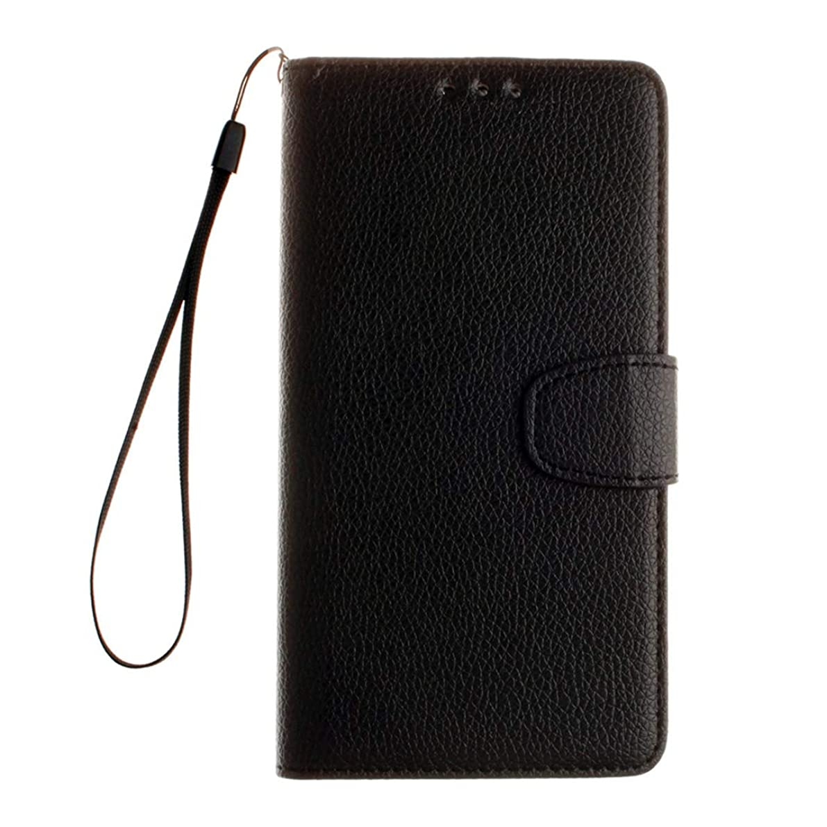 国松明失効Motorola Moto G4&G4 Plus Litchi Texture水平フリップレザーケースホルダー&カードスロット&ウォレット&フォトフレーム&ストラップ付き(ブラック) Lianz (色 : Black)