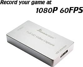 HornetTek HDMI Video Capture Device/Video Game Recorder USB 3.0 1080P 60 FPS Video & Audio GrabberFor VLC, Use Only v2.2.6 or Older Versions