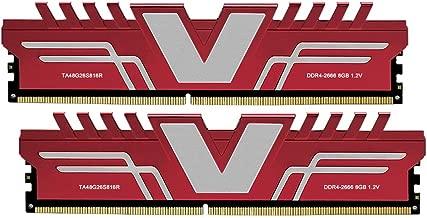 V-Color Skywalker Series 16GB (2 x 8GB) DDR4 2666MHz (PC4-21300) CL16 1.2V Desktop Memory Model RED (TA48G26S816RK)