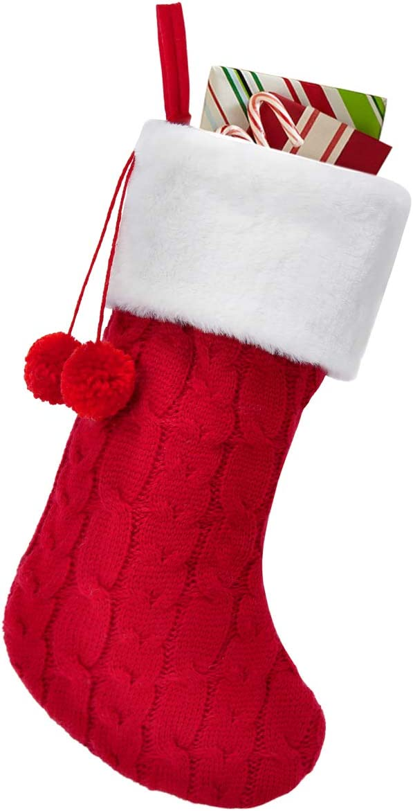 In a popularity Townshine Cable Knit Christmas Stockings 25% OFF 16 Faux Plush Inches F