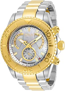Invicta Men's Pro Diver Quartz Watch with Stainless Steel Strap, Two Tone, 24 (Model: 29963)