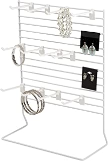 SSWBasics 12-Peg White Wire Countertop Rack - 12