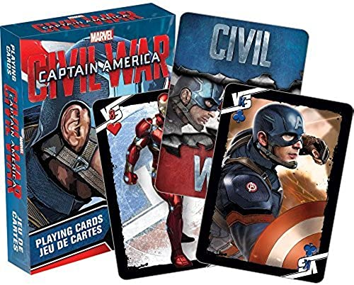 Captain America Civil War Limited Edition Playing Card Deck Prepack (2 Piece) by Aquarius