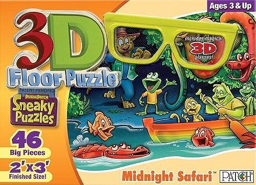 venta al por mayor barato 3D 3D 3D Sneaky Puzzles - Midnight Safari by Patch  orden en línea