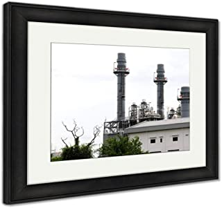 Ashley Framed Prints Power Plant in Industrial Zone, Wall Art Home Decoration, Color, 34x40 (Frame Size), Black Frame, AG5964901