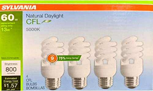 wholesale Sylvania high quality 4-Pack 60-W Equivalent discount CFL Light Fixture Light Bulbs sale