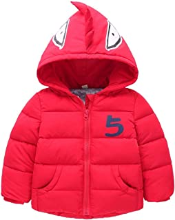 Gaorui Baby-Boys' Outerwear Hooded Coats Winter Jacket Clothes Long Fleece Trench Thicken Parka Clothing