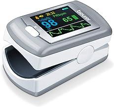 Beurer PO 80 pulsoxymeter, meting van zuurstofverzadiging (SPO2) en hartslag (hartslags), 24 uur continue registratie, sof...