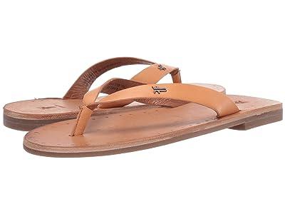 Frye Azalea Logo Flip-Flop (Sand Antique Veg Tan) Women