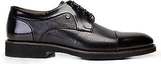 1740-530 EXLBAL-Spaz Siyah 301 - Silky Siyah 751 Nevzat Onay Bağcıklı Siyah Günlük Erkek Ayakkabı