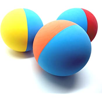 Snug Rubber Dog Balls for Small and Medium Dogs - Tennis Ball Size - Virtually Indestructible (3 Pack)