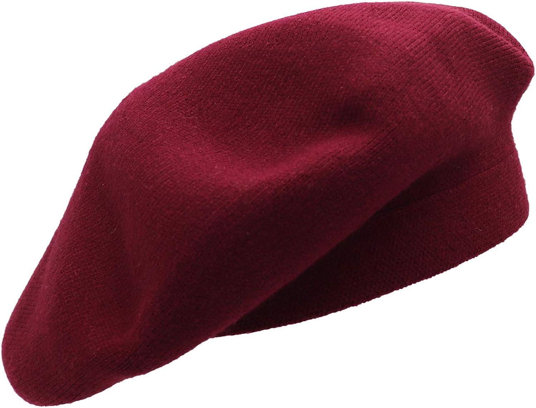 Umeepar Chapeau de b/éret r/éversible en cachemire pour femme Couleur unie