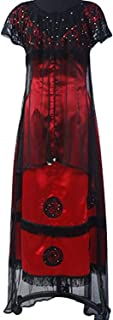Titanic Rose Evening Ball Gown Party Dress Cosplay Costume Jump Victorian Outfit