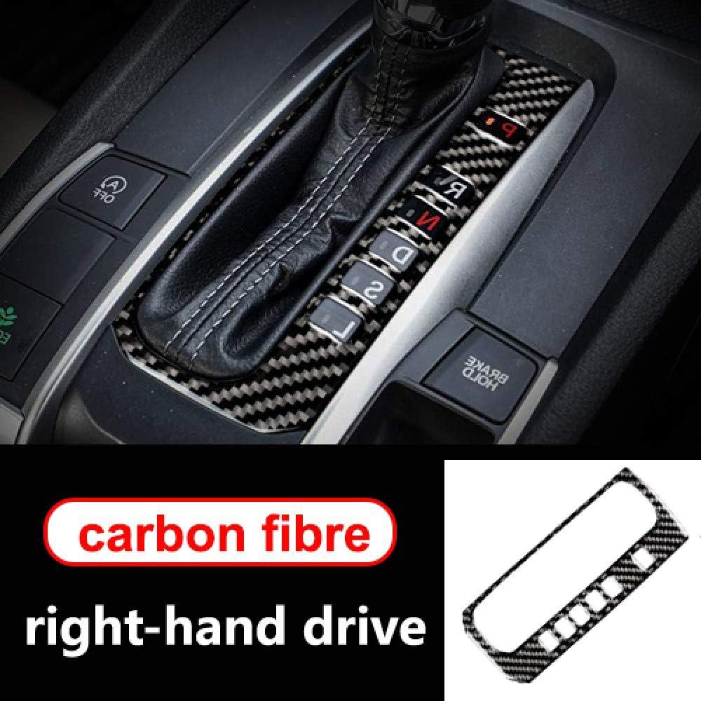 FSXTLLL Interior del Coche Panel de Cambio de Engranaje de Fibra de Carbono Adornos de Rendimiento del Panel de Ajuste para Honda Civic 2006 2020 LHD RHD