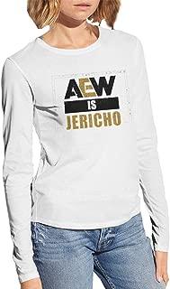 Aew is Jericho Woman Printed Long Sleeves Tee White