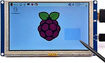 GeeekPi 5 inch HDMI Monitor LCD Resistive Touch Screen 800x480 LCD Display USB Interface for Raspberry Pi 4 Model B, Pi 3/...