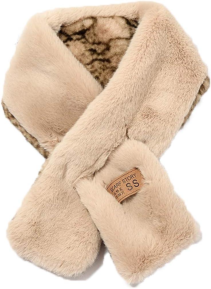 Globalwells Winter Warm Snake printed Faux Fur Collar Scarf Ring Women Men mix color Scarfs Wraps