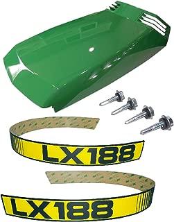 New Kumar Bros USA Upper Hood/Mounting Screws/LH & RH Decals fits John Deere LX188