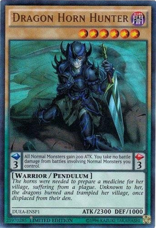 YuGiOh Duelist Alliance Single Card Super Rare Dragon Horn Hunter DUEAENSP1 by Duelist Alliance