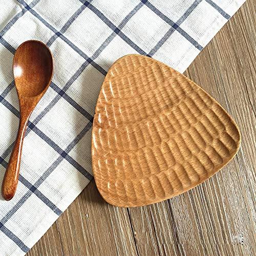 Teller Neue Japanische Buchenholz Besteckschale Handgeschnitzte Muscheln Dreieckige/Viereckige Holzschale Obstteller Home Teller B.