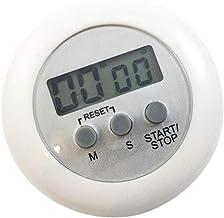 JK-2 Alarma de Cuenta Regresiva Cronómetro Mini Ronda magnética LCD Digital Que Cocina el Contador de Tiempo Gadget Blanca Duradera y útil