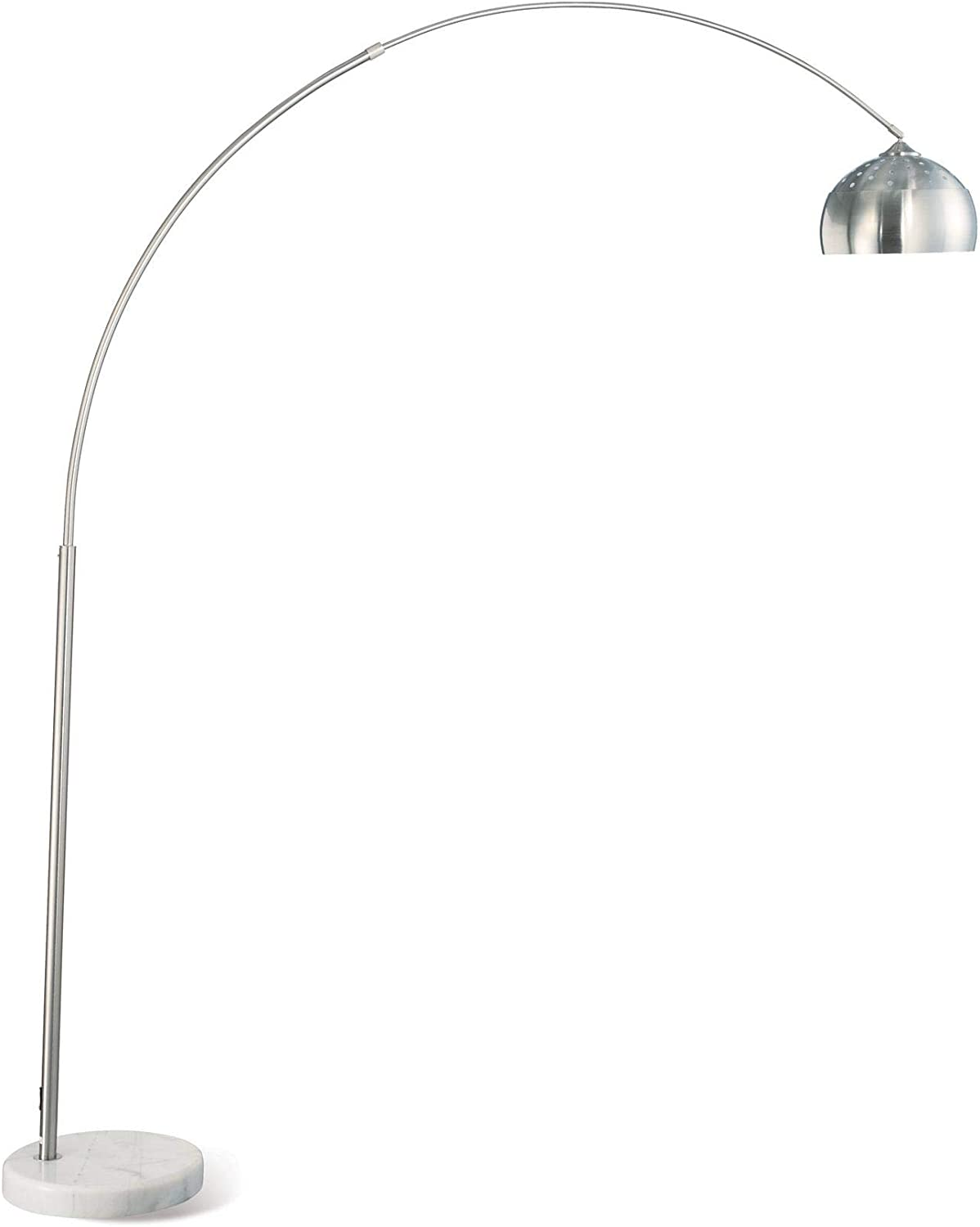 Floor Arc Spasm price Lamp with Marble Chrome in Long-awaited Base Finish