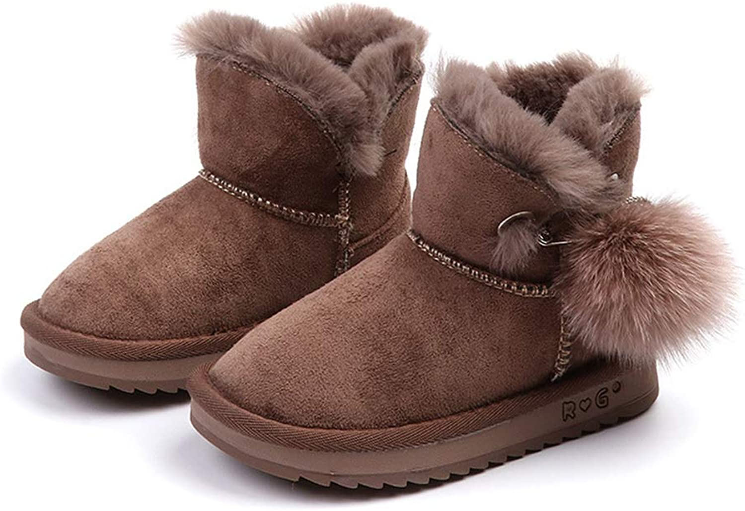 FUN.S Toddler Girls Boots Fur Lined Winter Boots shoes(Toddler Little Kid)