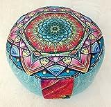 Cojín de meditación, yoga, con funda Bassetti extraíble, Tantra Meditation Lotos Mandala Yoga