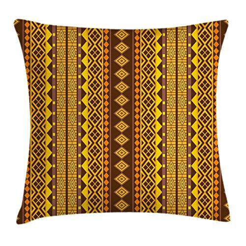 Fundas de almohada con estampado 3D, motivos hippies populares, estampado geométrico de triángulos, fundas de cojines cuadrados decorativos para sofá,decoración del hogar Acción de Gracias Navidad