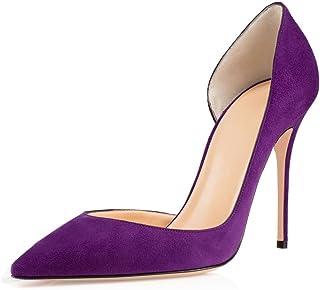 Soireelady Escarpins Beige Femme,Escarpins Bout Fermé Femme,Classique Soiree Mariage Chaussures